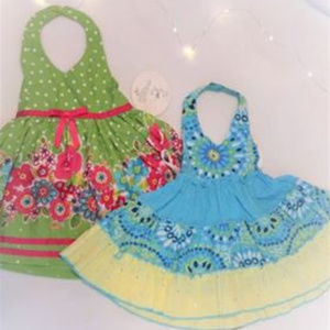 2 Beautiful Infant Green and Blue Sun Dres